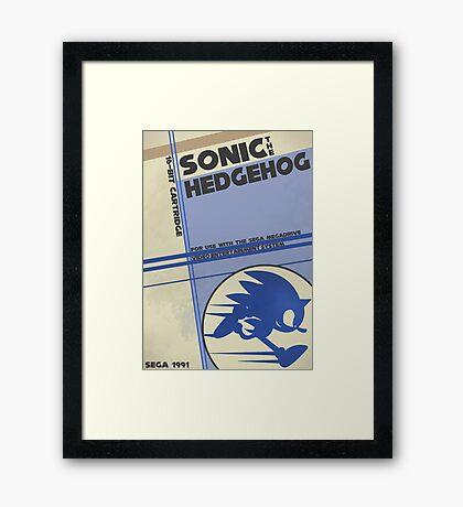 Megadrive - Sonic the Hedgehog Framed Print
