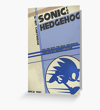 Megadrive - Sonic the Hedgehog Greeting Card