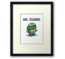 MR. ZOMBIE Framed Print