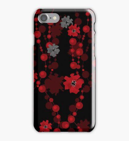 Elegant cute flowers seamless pattern on black iPhone Case/Skin