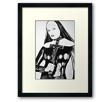 fetish nun Framed Print