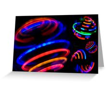 Neon Spin Greeting Card