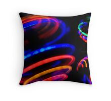 Neon Spin Throw Pillow