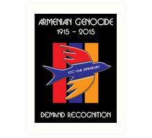Armenian Genocide 100 Year Anniversary Peace Dove Art Print
