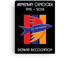 Armenian Genocide 100 Year Anniversary Peace Dove Canvas Print