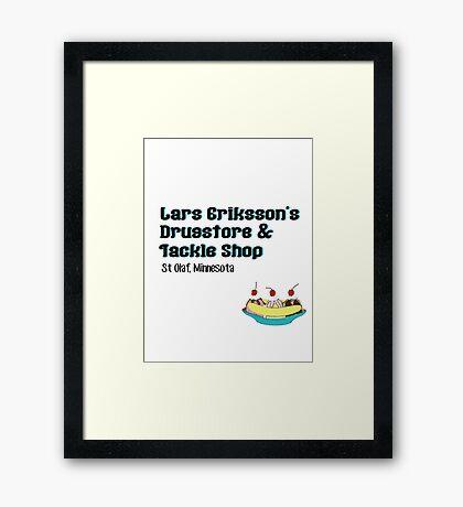 Lars Erikkson's Drug Store & Tackle Shop Framed Print