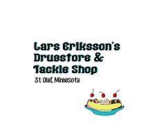 Lars Erikkson's Drug Store & Tackle Shop Photographic Print