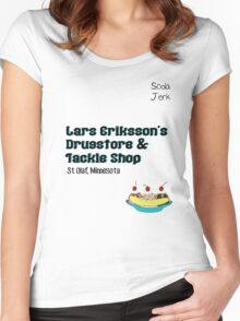 Lars Erikkson's Drug Store & Tackle Shop Women's Fitted Scoop T-Shirt