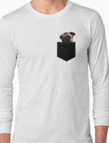 Pug Pocket Long Sleeve T-Shirt