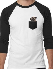 Pug Pocket Men's Baseball ¾ T-Shirt