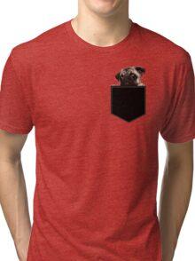 Pug Pocket Tri-blend T-Shirt
