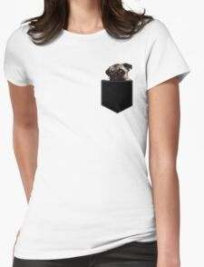 Pug Pocket Womens Fitted T-Shirt