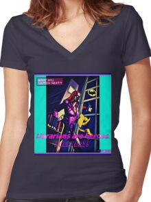 Summer Days Heroes 2 Women's Fitted V-Neck T-Shirt