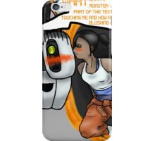 kissing with portals iPhone Case/Skin
