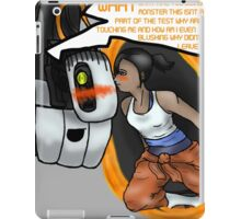 kissing with portals iPad Case/Skin