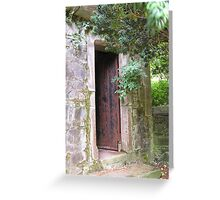 Door on Castle Grounds Greeting Card