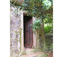 Door on Castle Grounds Photographic Print