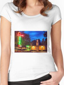 Napa Motel Neon Women's Fitted Scoop T-Shirt