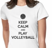 Keep Calm and Play Volleyball Womens Fitted T-Shirt