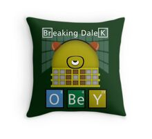 Breaking Dalek Throw Pillow