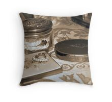 Vintage dressing table Throw Pillow