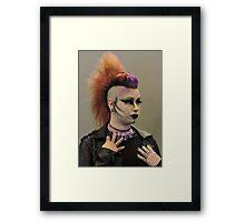 Punky Purple Framed Print