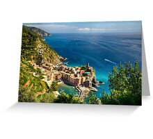 Vernazza from Above Greeting Card