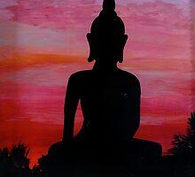 Sunset Buddha by MuertoCupcake