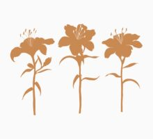 Orange Lilies Kids Tee