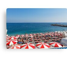 Parasols of Amalfi Beach Canvas Print