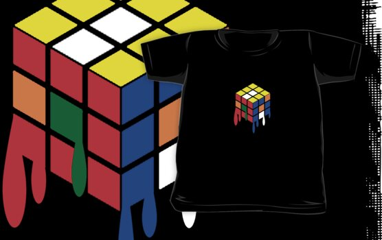 Dripping Cube by ToneCartoons