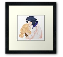 Pokemon x & y: serena and Sycamore Framed Print