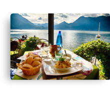 Lunchtime View Canvas Print