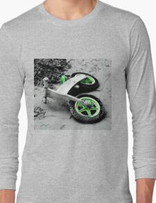 Green Wheels and Black Tyres  Long Sleeve T-Shirt