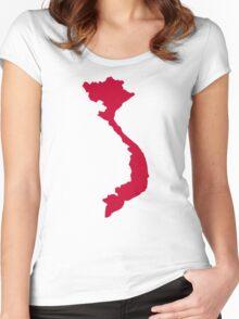 Vietnam map Women's Fitted Scoop T-Shirt