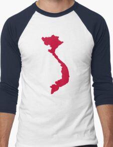 Vietnam map Men's Baseball ¾ T-Shirt