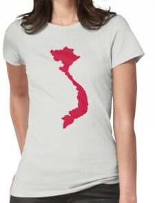 Vietnam map Womens Fitted T-Shirt