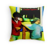 Bow Wow Meow Throw Pillow