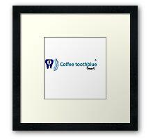 Coffee toothblue smart Framed Print