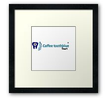 Coffee toothblue smart Framed Print