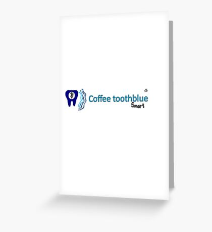 Coffee toothblue smart Greeting Card
