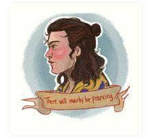 Half Bun Harry Art Print