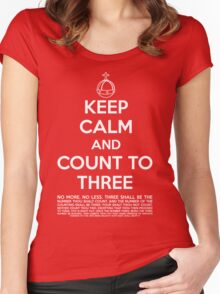 Keep calm and kill the bunny. Women's Fitted Scoop T-Shirt