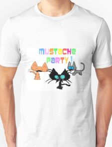 Mustache Party with Kitties T-Shirt