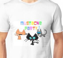 Mustache Party with Kitties Unisex T-Shirt