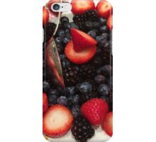 Strawberries & Blueberries iPhone Case/Skin