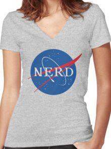 NASA Nerd Women's Fitted V-Neck T-Shirt