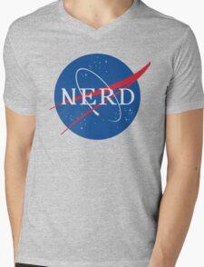 NASA Nerd Mens V-Neck T-Shirt