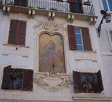 ROME!!! - A marvellous fresco on a house at Piazza Pantheon by Daniela Cifarelli