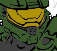 Master Chief Headshot Celtic Colored Sticker